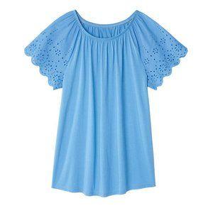 Amelia Eyelet Sleeve Top